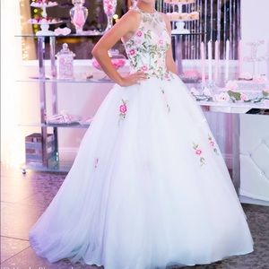 White Quinceanera dress!